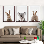 Kawaii Animals Rabbit Art Prints Poster