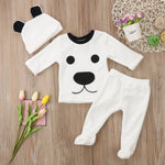 Baby Long Sleeve Fleece Jumpsuit Set 3 pcs - Cozy Nursery