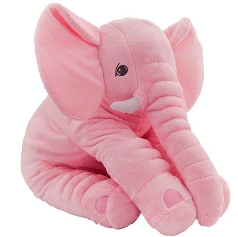 Pink Plush Elephant Pillow Toy - Cozy Nursery
