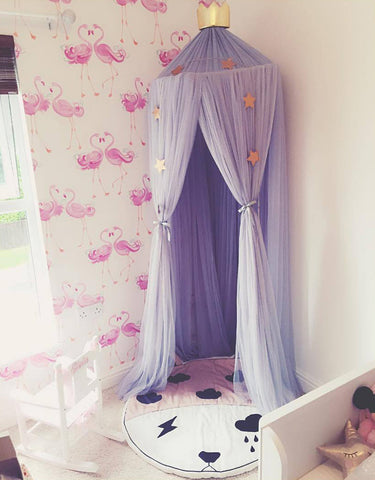Princess Bed Canopy Mosquito Net for Kids Baby Bed