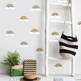 Watercolor Self-Adhesive Rainbow Clouds