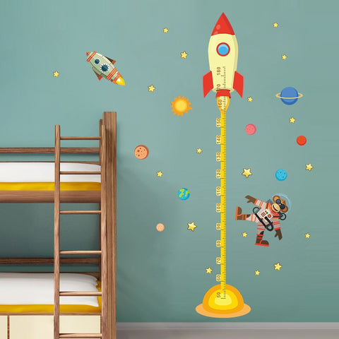 Space Rocket Growth Chart - Cozy Nursery