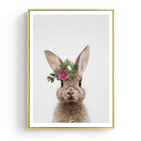 Kawaii Animal Rabbit Posters - Cozy Nursery