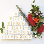 Nordic Style Wooden Alphabet Letters - Cozy Nursery