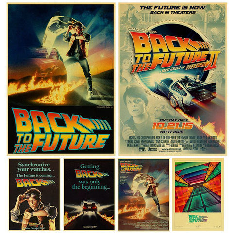 Sci-fi Back to The Future Film Propaganda Poster