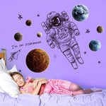 Space Astronaut Wall Stickers