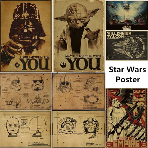 Star Wars Wall Posters - Cozy Nursery