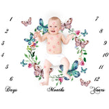 Baby Watercolor  Milestone Blanket