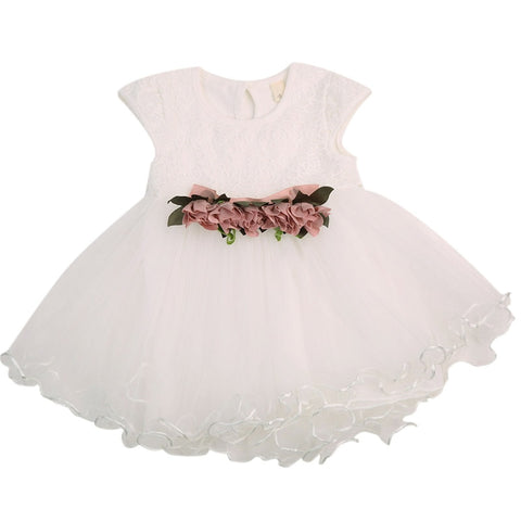 Baby Girl Floral Party Dress - Cozy Nursery