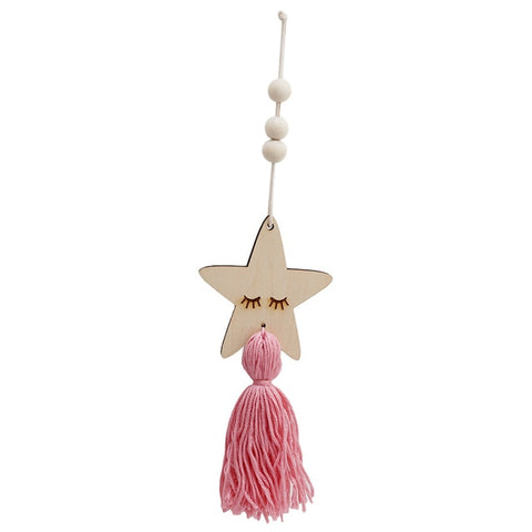 Nordic Style Nursery Decoration Star Shape Wooden Beads