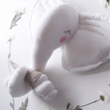 White Stuffed Elephant Wall Decor - Cozy Nursery