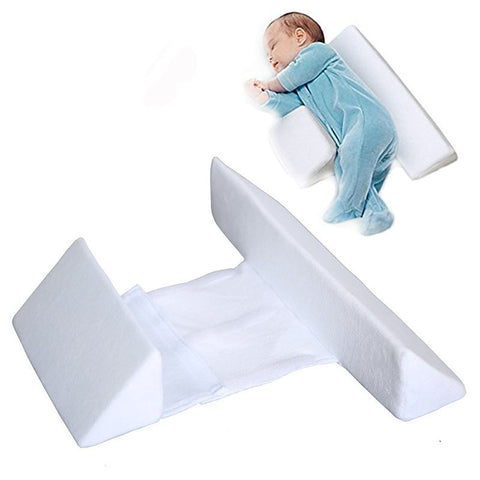 Baby Sleep Positioner Prevent Flat Head Shape Anti Roll Pillow - Cozy Nursery