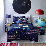 Space Rocket Bedding Set for Kids - Cozy Nursery