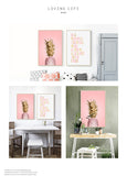Pink Ananas Posters Plants Pineapple Wall Art Pictures Nordic