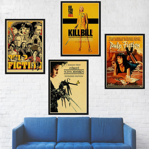 Classic Movie The Godfather/Pulp Fiction/Fight Club/Kill bill/Leon/Inglourious Basterds Poster - Cozy Nursery