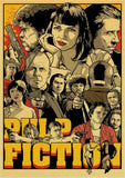 Classic Movie The Godfather/Pulp Fiction/Fight Club/Kill bill/Leon/Inglourious Basterds Poster