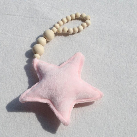 Nordic Wooden Beads Moon Star Heart Ornaments