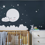 Moon Stars Cloud Wall Decals