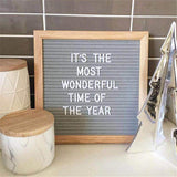 Felt Letter Board with Wooden Frame 25x25