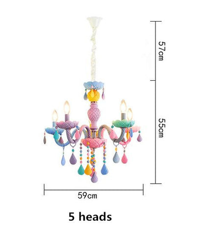 Macaron Candle Light Crystal Chandelier - Cozy Nursery