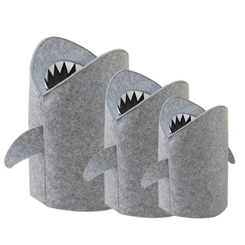 Nordic Style Felt Toy and  Laundry Bag Shark Design