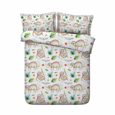 Sloth Duvet cover & 2 pillow cases bedding set - Cozy Nursery