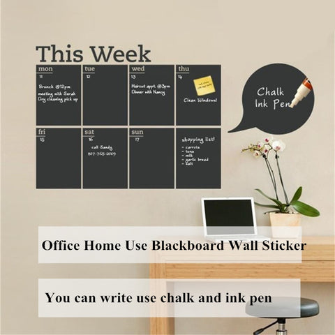 Chalkboard Wallpaper Week Planner Blackboard Wall Stickers