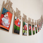 First Birthday Photo Banner Collage - Cozy Nursery
