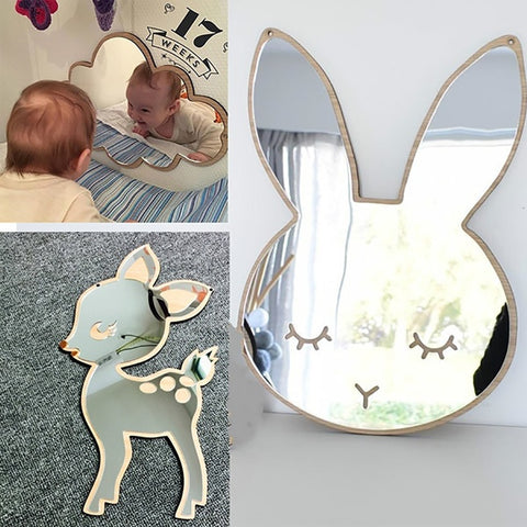 Children Cartoon Decorative Mirror - Cozy Nursery
