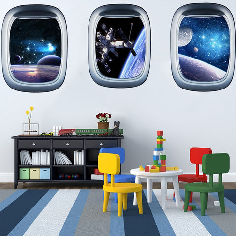 3D Space Galaxy Wall Sticker - Cozy Nursery