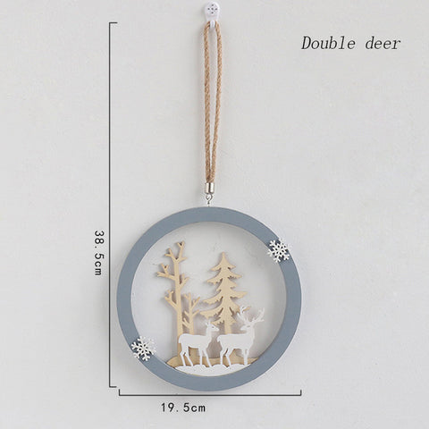 Nordic Wooden Home Decoration Hanging Ornaments Christmas Nursery Decor - Cozy Nursery