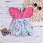 Baby Pink Top Flower Romper - Cozy Nursery