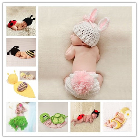 Newborn Crochet Knit Photo Props