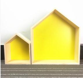 Wooden House Shelves 2PCS/SET - Cozy Nursery