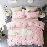 Unicorn Quilt Cover Sets 2/3pcs Pink Colour for Girls - Cozy Nursery