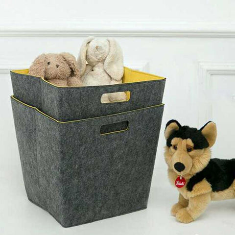 Felt Toy Storage Bin Bag Laundry Basket - Cozy Nursery