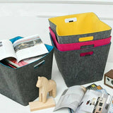 Felt Toy Storage Bin Bag Laundry Basket