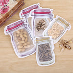 5pcs Mason Jar Shaped Storage Bags Set