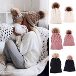 Mother & Baby Winter Warm Hats Set - Cozy Nursery