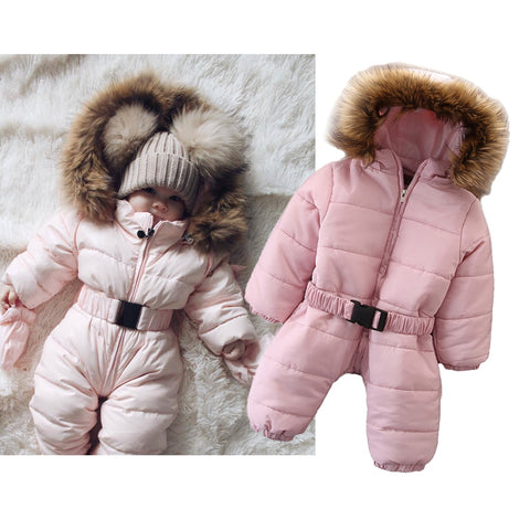 Winter Baby Hooded Jumpsuits