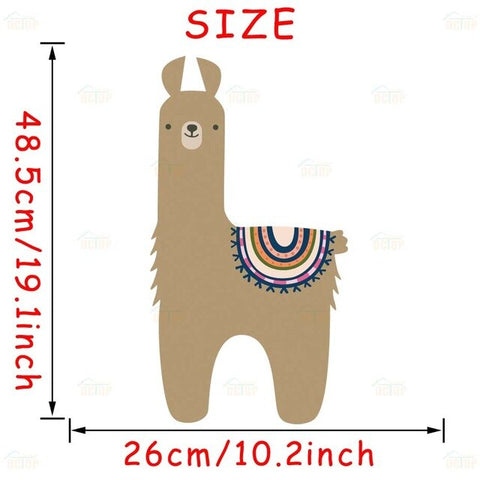 Cute Alpaca Llama Bear Wall Stickers