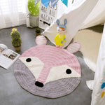 Fox Bear Knitted Play Mat - Cozy Nursery