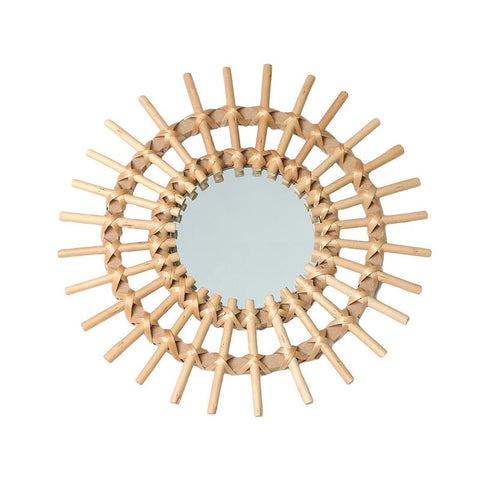 Rattan Mirror - Cozy Nursery