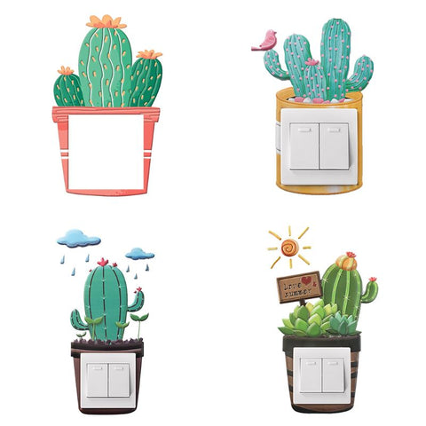 Cactus Silicone Light Switch On-off Stickers - Cozy Nursery