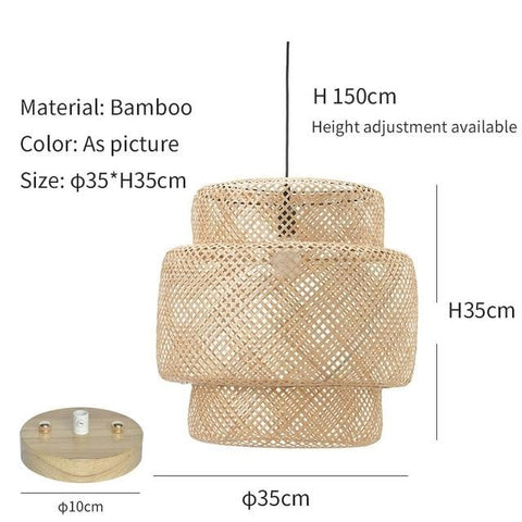 Bamboo Rattan Weaving Lampshade - Cozy Nursery