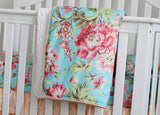 Boho Mint Floral Baby Crib Bedding Set - Cozy Nursery