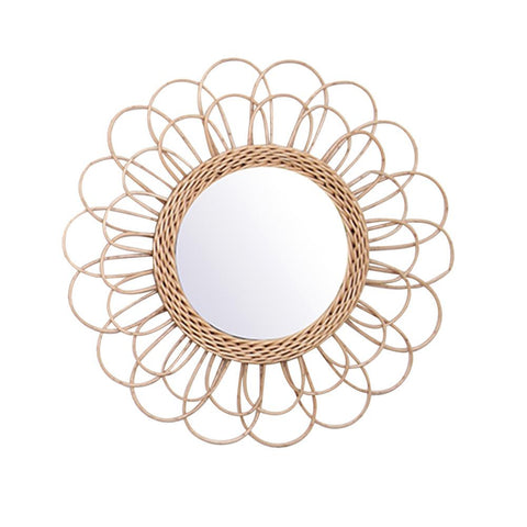 Rattan Dressing Mirror - Cozy Nursery