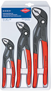 Knipex 002006US1 3-Piece Cobra Water Pump Pliers Set