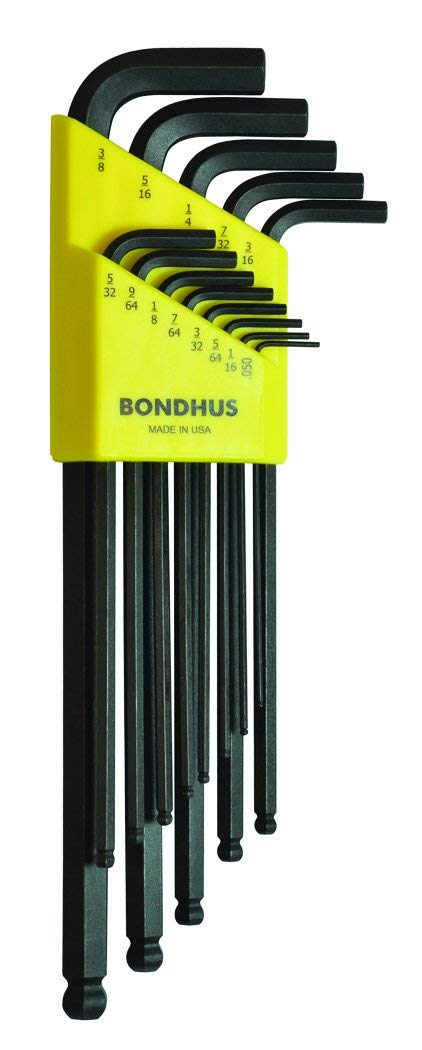 Bondhus 10937 Set of 13 Balldriver L-wrenches .050-3/8