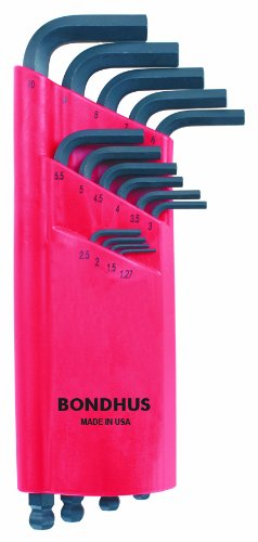 Bondhus 10995 Set of 15 Balldriver L-wrenches 1.27mm-10mm